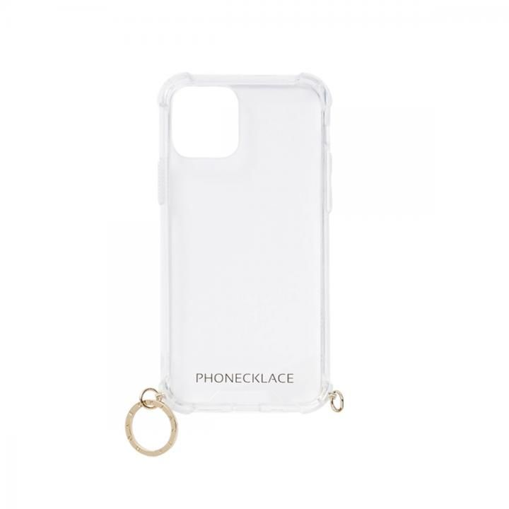 ストラップ用リング付きクリアケース ゴールドチャーム iPhone 12 mini_0