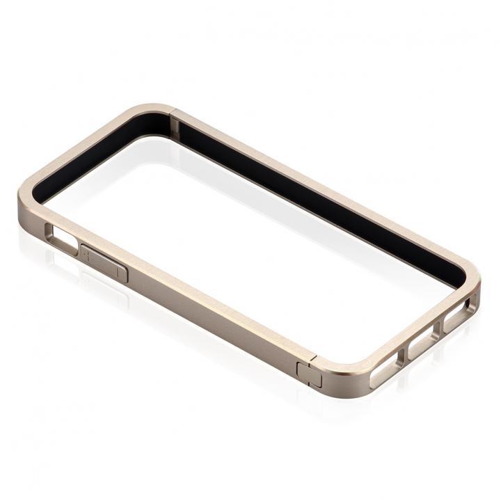 iPhone SE/5s/5 ケース メタルバンパーなのに軽量ボディ Just Mobile AluFrame  iPhone SE/5s/5 ゴールド_0
