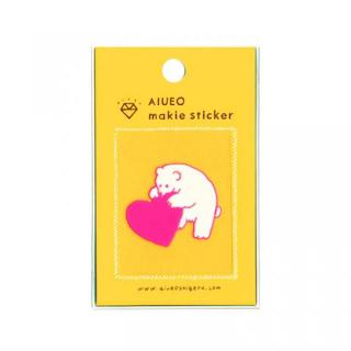 蒔絵シール makie sticker polar bear PK