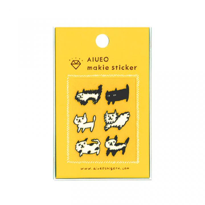 蒔絵シール makie sticker nekobo WH