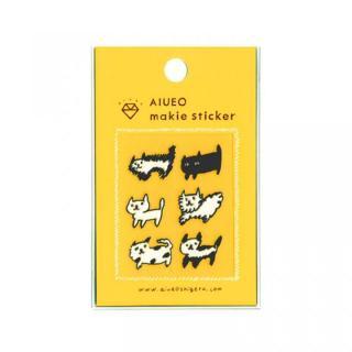 蒔絵シール makie sticker nekobo WH