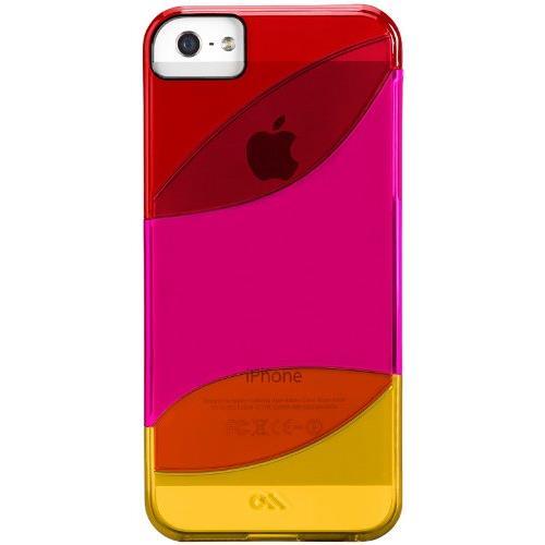 iPhone SE/5s/5 カラウェイズ ケース レッド/リップスティック ピンク/タンジェリン オレンジ