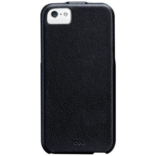【iPhone SE/5s/5ケース】Case-Mate Signature Flip Case Black レザー 手帳型縦開きタイプ_0