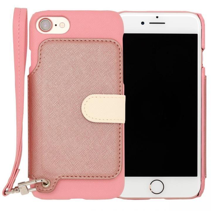 iPhone7 ケース RAKUNI PUレザー ブックタイプケース with ストラップ ピンク iPhone 7_0