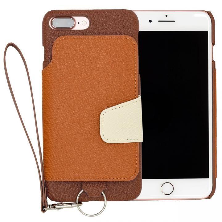 iPhone7 Plus ケース RAKUNI PUレザー ブックタイプケース with ストラップ ブラウン iPhone 7 Plus_0