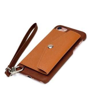 【iPhone7ケース】RAKUNI PUレザー ポケットタイプケース with ストラップ ブラウン iPhone 7_1