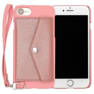 RAKUNI PUレザー ポケットタイプケース with ストラップ ピンク iPhone 7