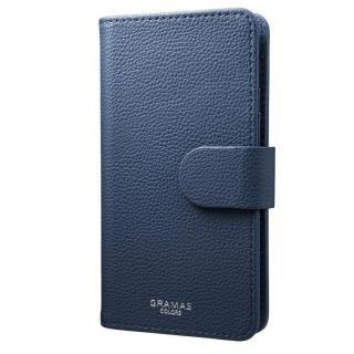 iPhone7/6s/6 ケース GRAMAS COLORS EveryCa マルチ対応PUレザー手帳型ケース Mサイズ/ネイビー