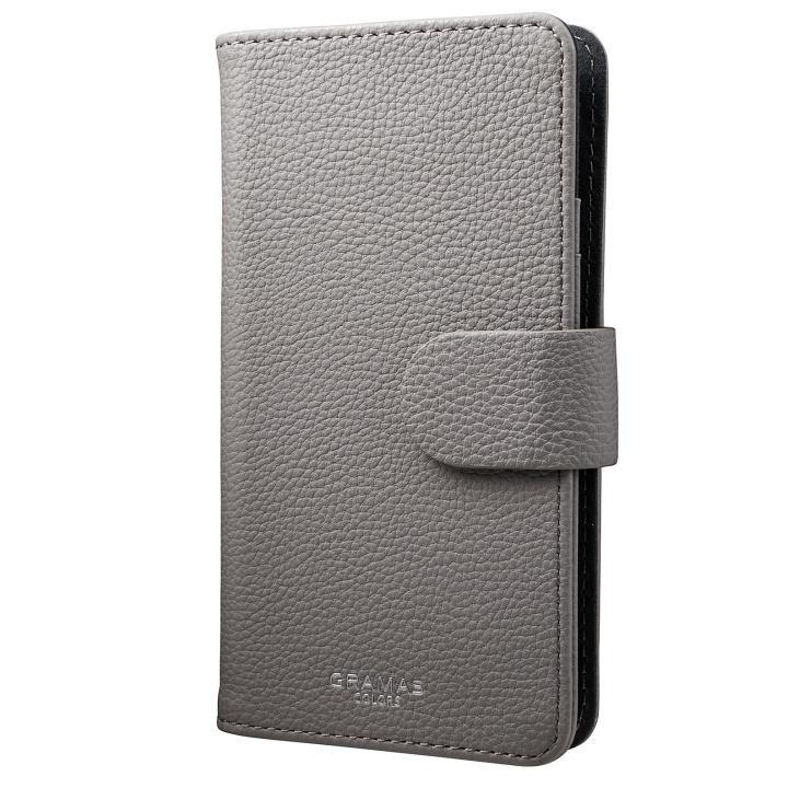 【iPhone7/6s/6ケース】GRAMAS COLORS EveryCa マルチ対応PUレザー手帳型ケース Mサイズ/グレイ_0