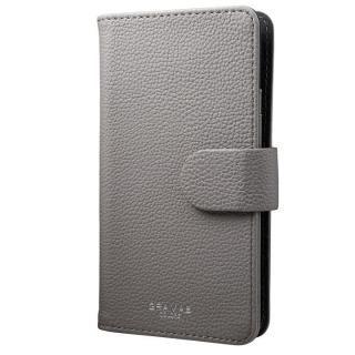 【iPhone7/6s/6ケース】GRAMAS COLORS EveryCa マルチ対応PUレザー手帳型ケース Mサイズ/グレイ