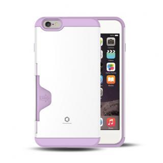 Golf Fit カード収納機能付きケース ホワイト-パープル iPhone 6 Plus