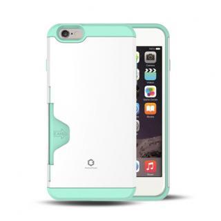 Golf Fit カード収納機能付きケース ホワイト-ミント iPhone 6 Plus