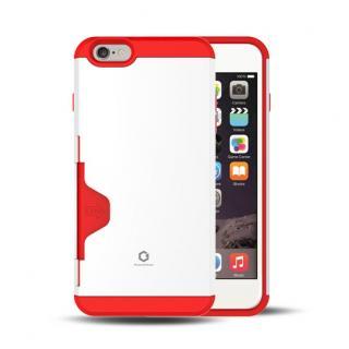 Golf Fit カード収納機能付きケース ホワイト-レッド iPhone 6 Plus