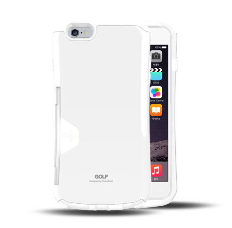 iPhone6 Plus ケース Golf Original カード収納機能付きケース ホワイト-エア iPhone 6 Plus_0