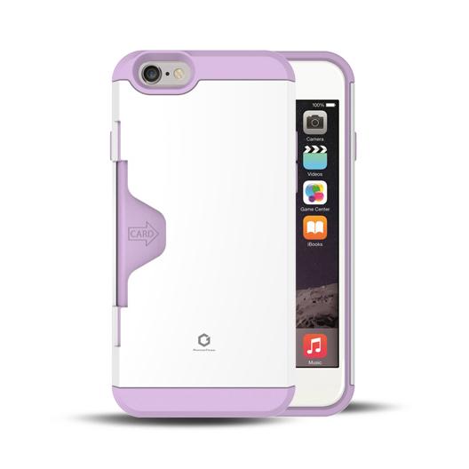 【iPhone6ケース】Golf Fit カード収納機能付きケース ホワイト-パープル iPhone 6_0
