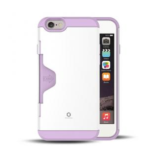 Golf Fit カード収納機能付きケース ホワイト-パープル iPhone 6