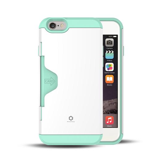 iPhone6 ケース Golf Fit カード収納機能付きケース ホワイト-ミント iPhone 6_0