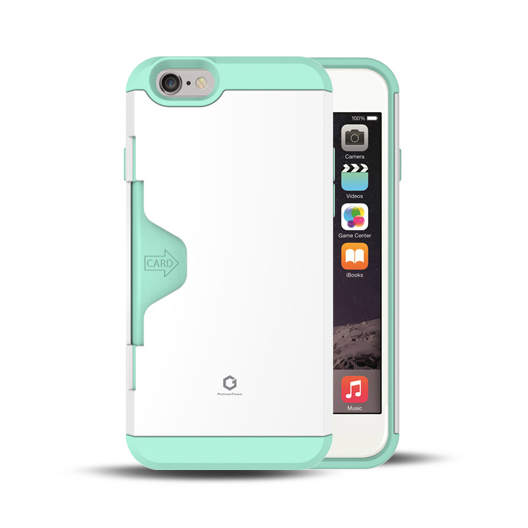 Golf Fit カード収納機能付きケース ホワイト-ミント iPhone 6