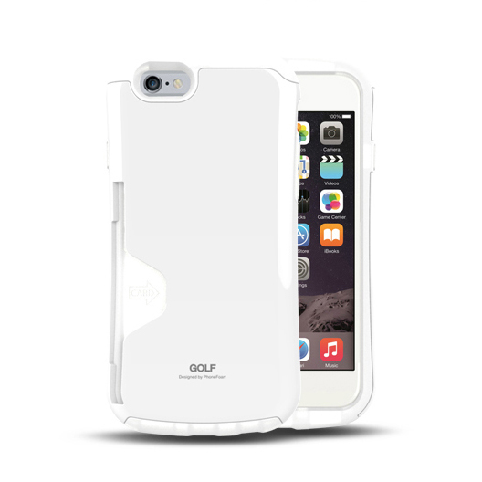 iPhone6 ケース Golf Original カード収納機能付きケース ホワイト-エア iPhone 6_0