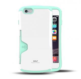 Golf Original カード収納機能付きケース ホワイト-ミント iPhone 6 Plus