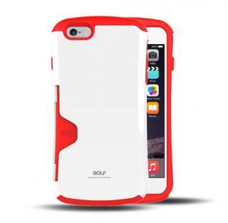 Golf Original カード収納機能付きケース ホワイト-レッド iPhone 6 Plus