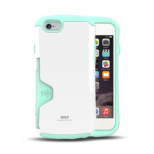 【iPhone6ケース】Golf Original カード収納機能付きケース ホワイト-ミント iPhone 6_0