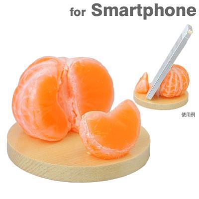 食品サンプルスマホスタンド みかん iPhone 5s/5c/5/4s/4/Android_0