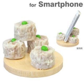 【在庫限り】食品サンプルスマホスタンド シュウマイ iPhone 5s/5c/5/4s/4/Android