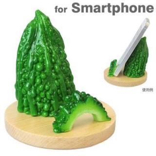 食品サンプルスマホスタンド ゴーヤ iPhone 5s/5c/5/4s/4/Android