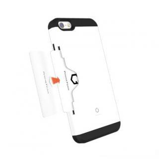【iPhone6ケース】Golf Fit カード収納機能付きケース ホワイト-レッド iPhone 6_1