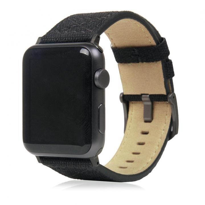 SLG Design Apple Watch バンド 42mm/44mm用 ワックスキャンバス ブラック_0