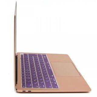 キースキン 2018 MacBook Air 13インチ専用 キーボードカバー バイオレット