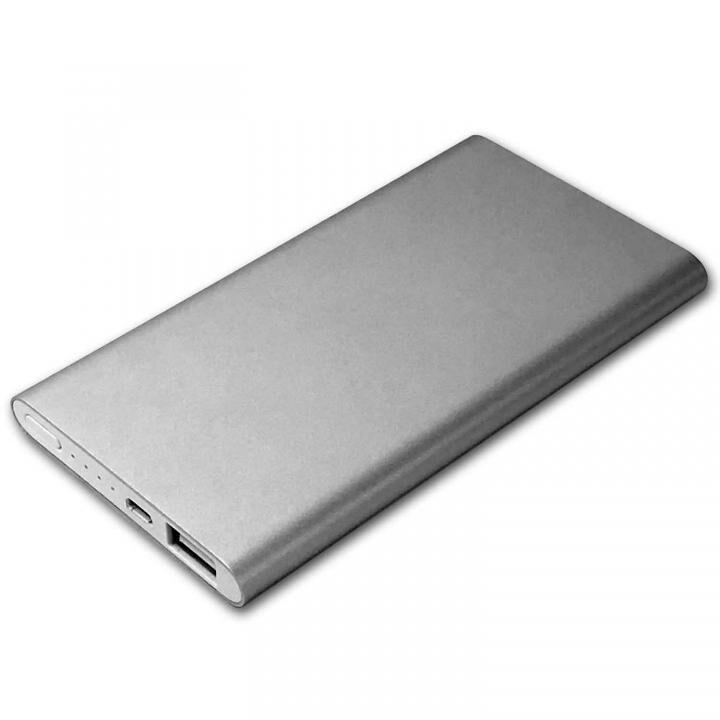HIDISC 5000mAh モバイルバッテリー USB出力5V 2.1A シルバー_0
