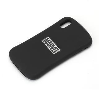 iPhone XR ケース MARVEL シリコンケース ロゴ/ブラック&シルバー iPhone XR