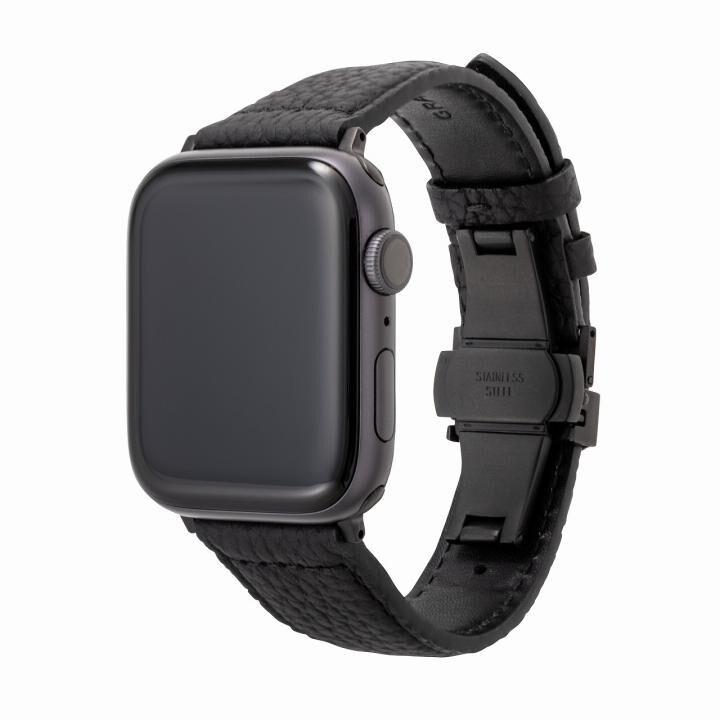GRAMAS German Shrunken-calf Watchband for Apple Watch 44/42mm Black_0