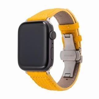GRAMAS German Shrunken-calf Watchband for Apple Watch 44/42mm Yellow