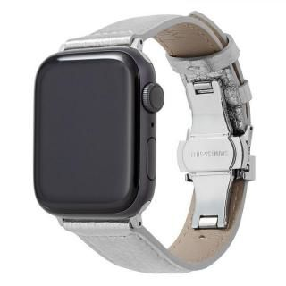 GRAMAS PikaPika Leather Watchband for Apple Watch 44/42mm Silver