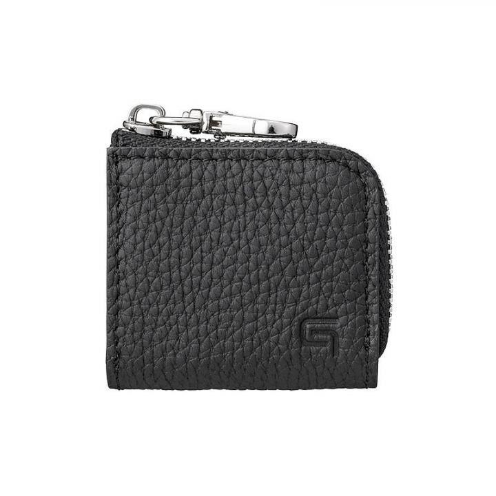 GRAMAS Me-po German Shrunken-calf Minimal Coin Pocket コインポケット Black_0
