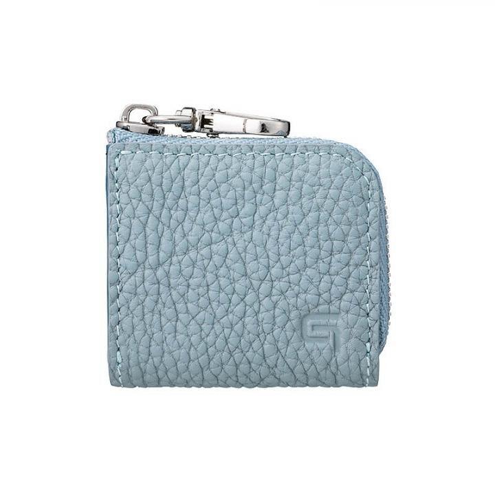 GRAMAS Me-po German Shrunken-calf Minimal Coin Pocket コインポケット Baby Blue_0
