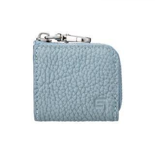 GRAMAS Me-po German Shrunken-calf Minimal Coin Pocket コインポケット Baby Blue
