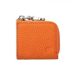 GRAMAS Me-po German Shrunken-calf Minimal Coin Pocket コインポケット Orange