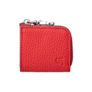 GRAMAS Me-po German Shrunken-calf Minimal Coin Pocket コインポケット Red