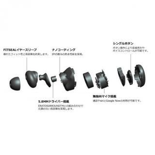 3Dサラウンド搭載 完全ワイヤレスイヤホン MUSE 5 ブラック_11