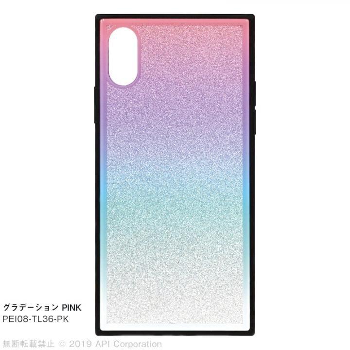 【iPhone XS/Xケース】EYLE TILE グラデーション iPhoneケース ピンク iPhone XS/X_0
