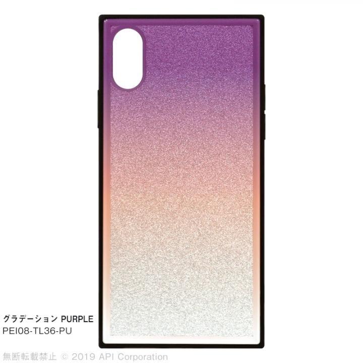 iPhone XS/X ケース EYLE TILE グラデーション iPhoneケース パープル iPhone XS/X_0