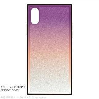iPhone XS/X ケース EYLE TILE グラデーション iPhoneケース パープル iPhone XS/X