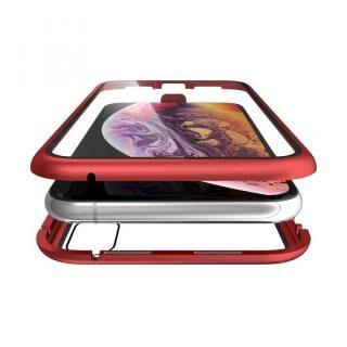 Monolith Alluminio Rosso(モノリス アルミニオ ロッソ)/レッド 両面強化ガラス+アルミバンパー iPhone XS/X