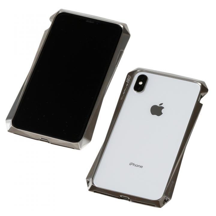 iPhone XS Max ケース Deff CLEAVE Titanium Bumper 180 チタニウムシルバー  iPhone XS Max_0
