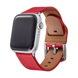 GRAMAS Genuine Leather Watchband for Apple Watch 44/42mm レッド
