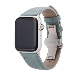 GRAMAS German Shrunken-calf Watchband for Apple Watch 40/38mm Baby Blue